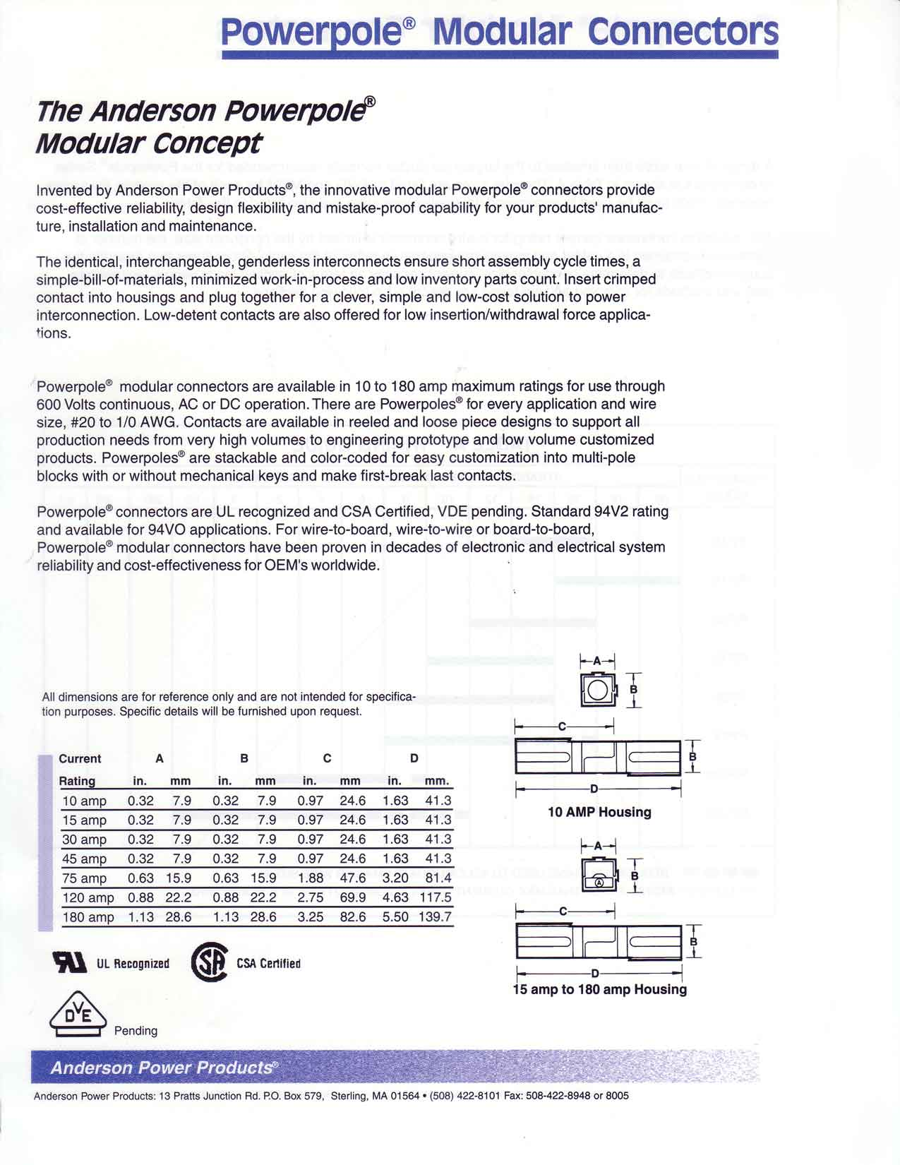 Powerpole Modular Connectors, Anderson Power Products